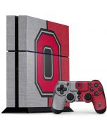 OSU Ohio State Buckeyes Split PS4 Console and Controller Bundle Skin