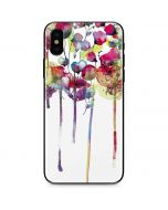 Painted Flowers iPhone X Skin