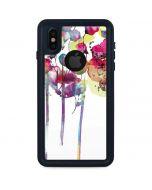 Painted Flowers iPhone XS Waterproof Case