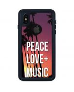 Peace Love And Music iPhone XS Waterproof Case