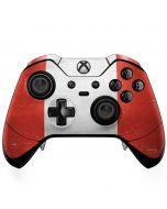 Peru Flag Distressed Xbox One Elite Controller Skin