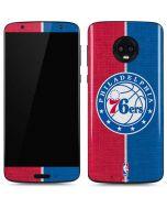 Philadelphia 76ers Canvas Split Moto G6 Skin