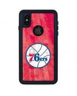 Philadelphia 76ers Hardwood Classics iPhone XS Waterproof Case