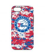 Philadelphia 76ers Red Digi Camo iPhone 8 Pro Case