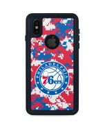 Philadelphia 76ers Red Digi Camo iPhone X Waterproof Case