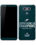 Philadelphia Eagles Super Bowl LII Champions LG G6 Skin