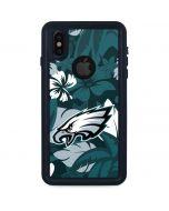 Philadelphia Eagles Tropical Print iPhone X Waterproof Case