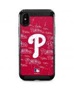 Philadelphia Phillies - Cap Logo Blast iPhone XS Max Cargo Case