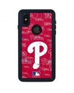 Philadelphia Phillies - Cap Logo Blast iPhone XS Waterproof Case