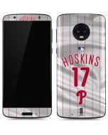 Philadelphia Phillies Hoskins #17 Moto G6 Skin