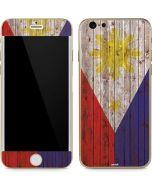 Philippines Flag Dark Wood iPhone 6/6s Skin