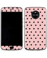 Pink and Black Polka Dots Moto X4 Skin