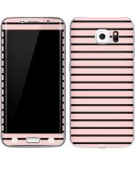 Pink and Black Stripes Galaxy S6 Edge Skin
