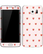 Pink and Red Hearts Galaxy S6 Edge Skin