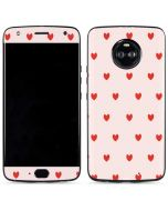 Pink and Red Hearts Moto X4 Skin