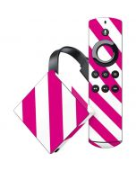 Pink and White Geometric Stripes Amazon Fire TV Skin