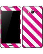 Pink and White Geometric Stripes Galaxy Grand Prime Skin