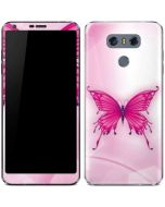 Pink Butterfly LG G6 Skin