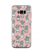 Pink Cactus Galaxy S8 Plus Skin