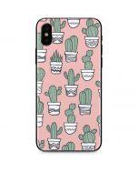 Pink Cactus iPhone X Skin