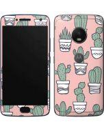 Pink Cactus Moto G5 Plus Skin