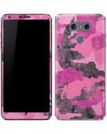 Pink Camouflage LG G6 Skin