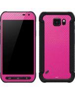 Pink Carbon Fiber Galaxy S6 Active Skin