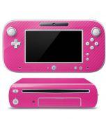 Pink Carbon Fiber Wii U (Console + 1 Controller) Skin