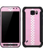 Pink Checkerboard Galaxy S6 Active Skin