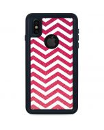 Pink Chevron iPhone X Waterproof Case
