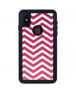 Pink Chevron iPhone XS Waterproof Case