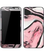 Pink Marble Ink Galaxy S5 Skin