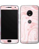 Pink Marbling Moto G5 Plus Skin