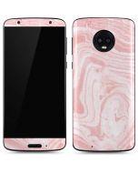 Pink Marbling Moto G6 Skin