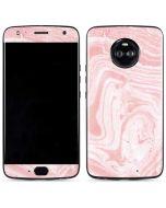 Pink Marbling Moto X4 Skin