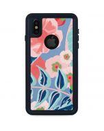 Pink Spring Flowers iPhone XS Waterproof Case