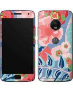 Pink Spring Flowers Moto G5 Plus Skin