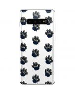Pittsburgh Panthers Paw Prints Galaxy S10 Plus Skin
