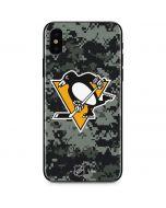 Pittsburgh Penguins Camo iPhone X Skin