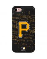 Pittsburgh Pirates - Cap Logo Blast iPhone 7 Wallet Case