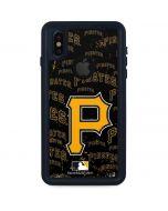 Pittsburgh Pirates - Cap Logo Blast iPhone XS Waterproof Case