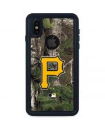 Pittsburgh Pirates Realtree Xtra Green Camo iPhone XS Waterproof Case