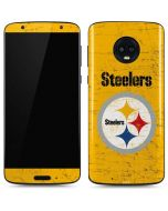Pittsburgh Steelers - Alternate Distressed Moto G6 Skin