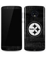 Pittsburgh Steelers Black & White Moto G6 Skin