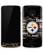 Pittsburgh Steelers Black Blast Moto G6 Skin