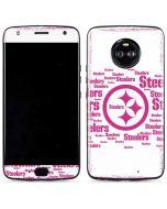 Pittsburgh Steelers Pink Blast Moto X4 Skin