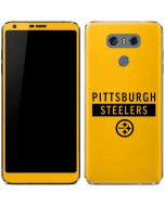 Pittsburgh Steelers Yellow Performance Series LG G6 Skin
