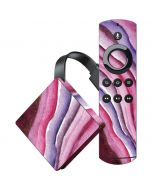 Plum Watercolor Geode Amazon Fire TV Skin