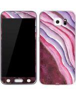 Plum Watercolor Geode Galaxy S6 Skin