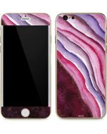 Plum Watercolor Geode iPhone 6/6s Skin